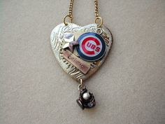 Chicago Cubs Baseball Necklace . . . even though it's going to be a rebuilding year.