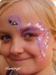 Face painting Flamingo