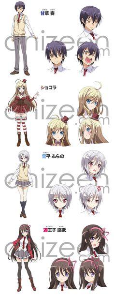 Characters in the Ore no Nounai Sentakushi ga, Gakuen Love Come o Zenryoku de…