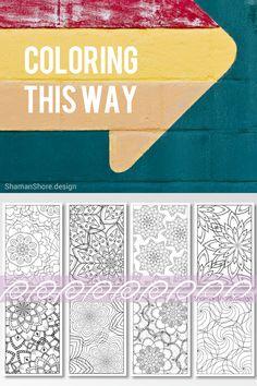 #ShShPrintables Mandala coloring pages for grown ups   Printable mandala coloring book for adults on Etsy   complex coloring pages, printable adult coloring book