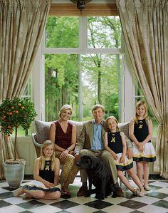Royal family of the Netherlands- King Willem-Alexander, Queen Maxima, Princess Catherina-Amalia, Princess Alexia, and Princess Ariane