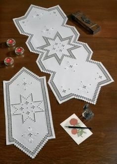 Star Hardanger Table Topper - (KIT) - I found this while browsing JuliesXstitch.com