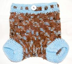 Cloth Diaper Cover Crochet Pattern with Leg Cuffs - Wool Soaker - One Size Fits Most Birth to Potty - Easy Fit around the Legs  by TheHappyCrocheter on Etsy https://www.etsy.com/listing/79099512/cloth-diaper-cover-crochet-pattern-with
