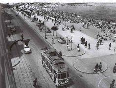 """el viejo """"3"""" entrando en la Avda de Rubine Varadero, Hockey, Places, Portugal, Lisbon, Old Pictures, City, The Beach, Historia"""