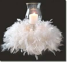 This would be adorable if you had one of those gowns with the feathers on the skirt!