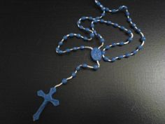 These rosary beads can be worn or used exclusively for prayer. Daily rosary prayers and detailed instructions are included to assist you. These rosaries can be a great gift item for that special someone or purchased for personal use. They're currently only available in two colors, either blue or pink. At a great price of $9.99 with free shipping.