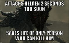 What was even the point of attacking helgen its not like it was built on top of a dragon burial site. Maybe to kill the Dovahkiin, not knowing he was headed to his execution? Video Game Logic, Video Games Funny, Funny Games, Skyrim Gif, Skyrim Funny, Elder Scrolls Games, Elder Scrolls Skyrim, Arrow To The Knee, Bethesda Games