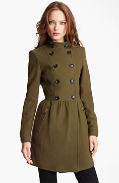 SO adorable!  Burberry Brit Double Breasted Wool Blend Coat   Nordstrom