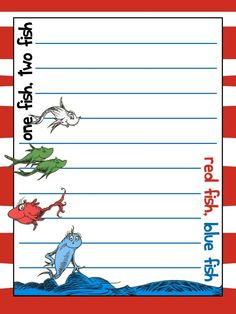 Journal Card - IOA - One Fish, Two Fish, Red Fish, Blue Fish - Lines - 3x4 Photo by pixiesprite | Photobucket