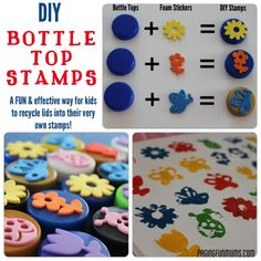 Bottle Top Stamps - Suggest gluing it to an empty thread spool or similar object to make it easier to use.