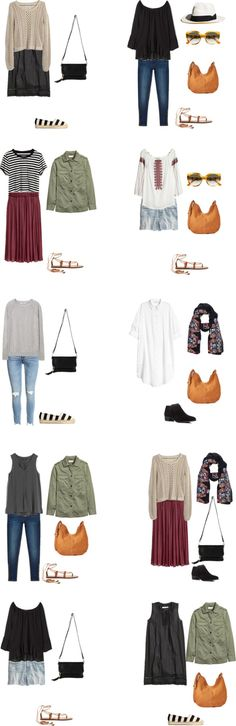 livelovesara - My life in a blog by Sara Watson. Packing list: 3 weeks in Spain and Italy in Summer; Outfits Options 2