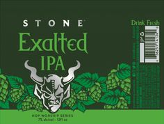 Stone - Exalted  http://www.beer-pedia.com/index.php/news/19-global/5140-stone-exalted  #beerpedia #stonebrewing #ipa #loral #citra #beerblog #beernews #newrelease #newlabel #craftbeer #μπύρα #beer #bier #biere #birra #cerveza #pivo #alus