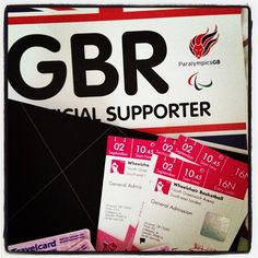 Yes! Our wheelchair basketball Paralympics tickets arrived! London2012 Roll on 2 September...