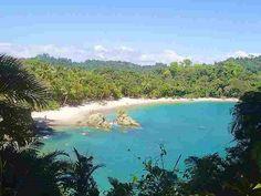 White sand beaches in Costa Rica.