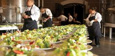 Plated Salad vs. Buffet Salad? Not a problem! #CNCatering #dallascatering #dallaswedding