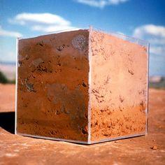 Anne-Katrin Spiess, Elements / Red Soil Utah 2000 Abstract Sculpture, Sculpture Art, Art Cube, Wood Tree, Environmental Art, Art Object, Installation Art, Terracotta, Contemporary Art
