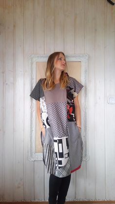 ONE Size FITS ALL One of a Kind  Tunic Dress with Pockets