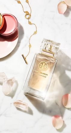 Jolie Fleur Rose captures the soft blush color and aroma of roses in Tory Burch's garden.