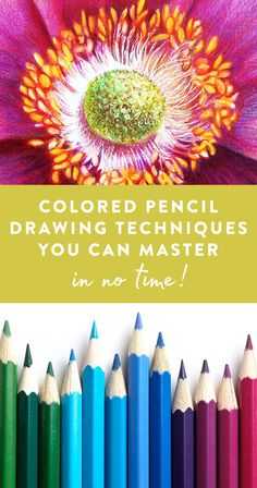 There's so much you can do with colored pencils — why limit yourself to simple coloring? Instead, practice and employ. Colored Pencil Artwork, Coloured Pencils, Color Pencil Art, Colored Pencil Tutorial, Colored Pencil Techniques, Watercolor Pencils Techniques, Painting Techniques, Drawing Techniques Pencil, Drawing Lessons
