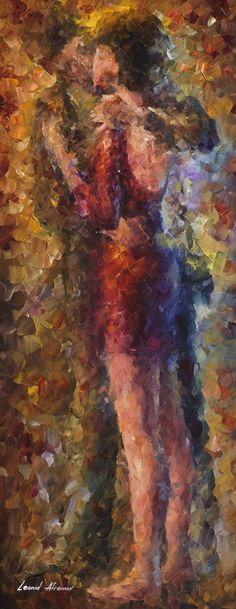 """Ringing kiss"" by Leonid Afremov ___________________________ Click on the image to buy this painting"