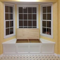 A long, narrow space under a window is the perfect space for adding a window seat. Built of PAR pine that you will find in the timber sectio...