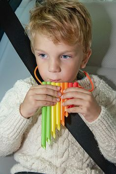 DIY Musical instruments - Handmade Pan Flute For Kids Made From Straws
