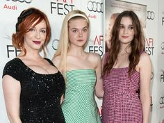 Christina Hendricks, Elle Fanning, and Alice Englert at AFI Fest. (Photography by Damon Garret, Michael Kovac, Randall Michelson, Timothy Norris, and courtesy of AFI)