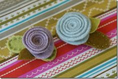 A bunch of tutorials with great ideas for hair accessories and uses for scrap fabric.