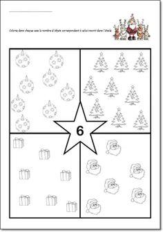 Fiches numération maternelle – Quantités jusqu'à 9 – Thèmes : Automne, Noël, Hiver ou Galette des rois – MS/GS