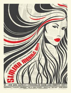 cool music posters   60 Concert Posters From Ten Amazing Artists   Smashing Magazine