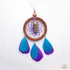 Cosmic Goddess Titanium Quartz Crystal Dreamcatcher Necklace by eenk on Etsy