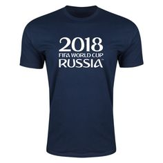 2018 FIFA World Cup Russia™ Event Wordmark Supersoft T-Shirt (Navy)