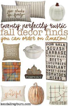 Twenty Perfectly Rustic Fall Decor Finds on Amazon! 🍂  [ad]: