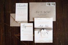 Neutral Travel-Themed Destination Wedding Invitations by BC Design via Oh So Beautiful Paper (3)