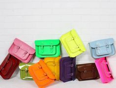 cambridge satchel in more colors, including neon! Cambridge Satchel, Look Fashion, Fashion Bags, Fashion Trends, Fashion Ideas, Female Fashion, Fashion Design, Doll Style, Tents