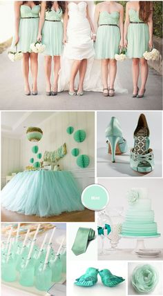 Mint Green Ivory Wedding Colour Theme Themes