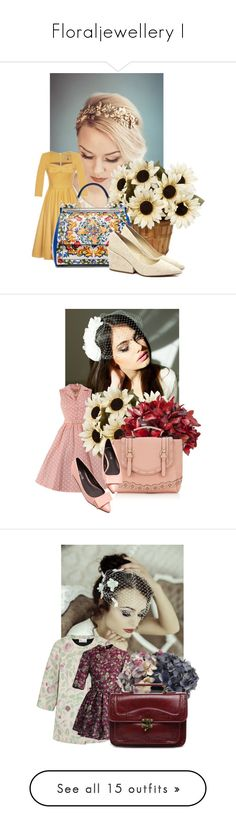 """""""Floraljewellery I"""" by diaryoflady ❤ liked on Polyvore featuring Lena Hoschek, Dolce&Gabbana, Smith & Hawken, Accessorize, RED Valentino, Chicwish, Marks & Spencer, Whistles, LSA International and Miss Selfridge"""