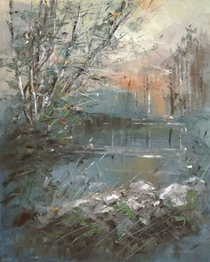 palette knife paintings, painting with palette knife, landscape oil paintings, oil on canvas, modern painting