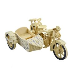 Puzzle Motor Tricycle Build It Yourself! Tricycle Motorcycle, 3d Puzzles, Wooden Diy, Customized Gifts, Wood Projects, 3d Printing, Toys, Scale, Vintage