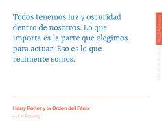 Todos tenemos luz y oscuridad dentro de nosotros. Lo que importa es la parte que elegimos para actuar. Eso es lo que realmente somos.  – Nueva #cita de la semana en Relibrea ❤️ blog.relibrea.com  #JKRowling #Rowling #Harry #HarryPotter #Fenix #citadelasemana #leeresvivir #leer #libros #amoleer #love #asieslavida #frases #amantedeletras #sentimientos #escribir #frasesencastellano #literatura #prosa #poesia #quote #quotes #citadeldia #inteligenciaemocional #Relibrea