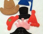 Hats addon for out Mr. Potato head felt game set educational game learning toy Eco-Friendly
