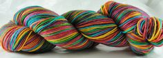 Self-Striping Sock Yarn 100 grams - Peace, Love and Lobster  colourway