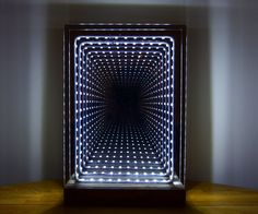 Modern Led Infinity Mirror Table Lamp
