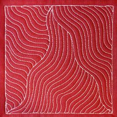 The Free Motion Quilting Project: Day 258 - Wiggly Woven Lines