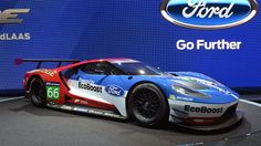 Ford GT racer makes a pit stop at the LA Auto Show