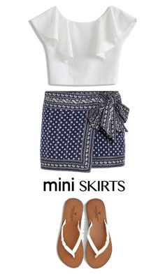 """""""blue and white mini"""" by fernshadowstudio-com ❤ liked on Polyvore featuring Étoile Isabel Marant, Chicwish and American Eagle Outfitters"""