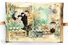 Crafting ideas from Sizzix UK: Journal obsession continues - Thinlits in mixed-media way!