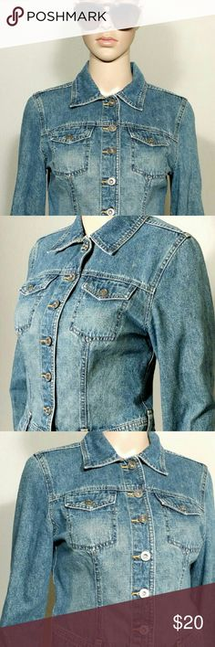 Express Jeans Womens Blue Denim Jacket Size S SMALL 100% Cotton In very good condition!! Very adorable!! A great gift!! Fast Shipping!! Express Jackets & Coats