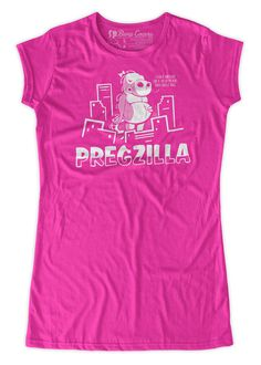 Pregzilla funny Maternity T-Shirt Clothes Top - chest print - Made From  Bamboo - SUPER SOFT   Stretchy 5147994d0