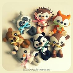 Erin the Hedgehog PDF pattern-DIY-Woodland por LittleThingsToShare